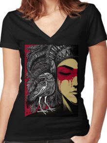Winya No. 33 Women's Fitted V-Neck T-Shirt