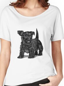 Cute black dog  Women's Relaxed Fit T-Shirt