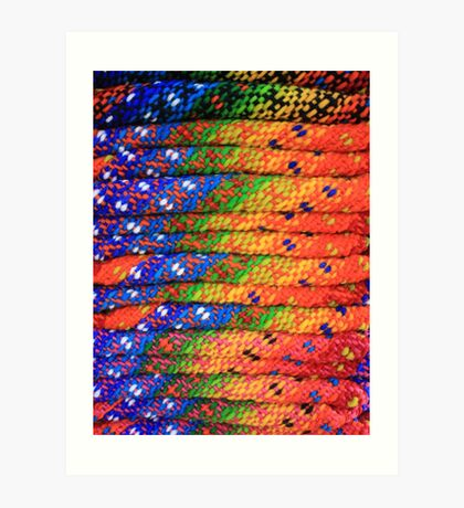 Colorful Knit Sweaters Art Print