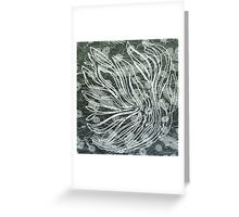 Abstract Flower Etching  Greeting Card