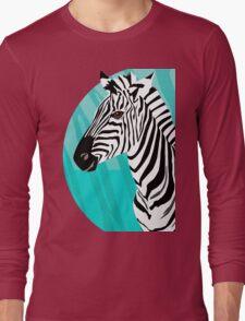 Zebra in Blue - Zebra in Blautönen Long Sleeve T-Shirt