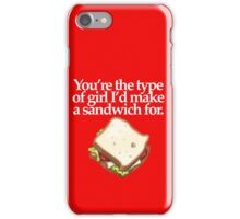 SANDWICH for GIRL  (DARK) iPhone Case/Skin