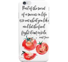 Mark Twain - about food iPhone Case/Skin