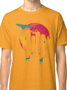 Save The Planet - City Night glow Classic T-Shirt