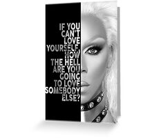 Ru Paul Text Portrait Greeting Card