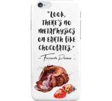 Fernando Pessoa - quote - about chocolate - muffin vers iPhone Case/Skin