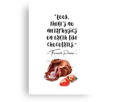 Fernando Pessoa - quote - about chocolate - muffin vers Canvas Print