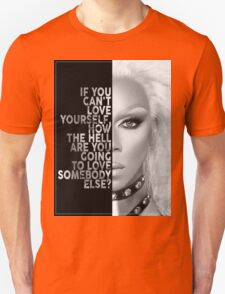 Ru Paul Text Portrait Unisex T-Shirt
