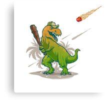 Dino baseball player Canvas Print
