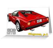 Ferrari 308 GTS from Magnum, p.i. Greeting Card