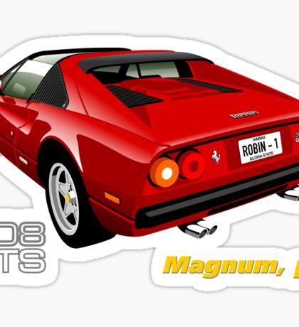 Ferrari 308 GTS from Magnum, p.i. Sticker
