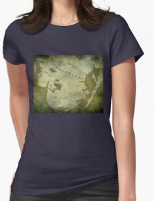 Brooklyn Map-Green Womens Fitted T-Shirt