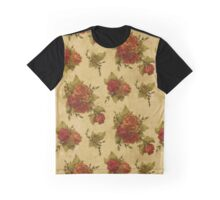 Roses, Flowers, Petals, Leaves - Red Green Graphic T-Shirt