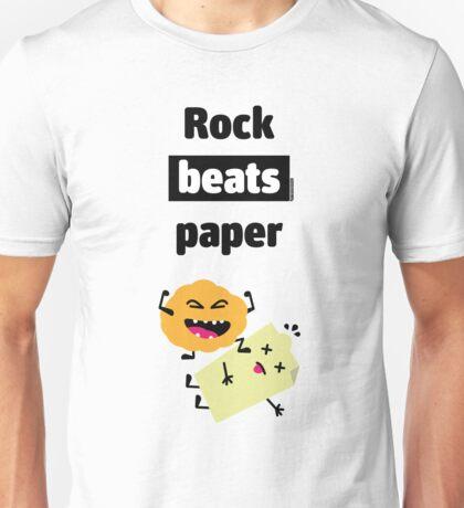 Rock Beats Paper Unisex T-Shirt