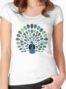 Peacock Time Women's Fitted Scoop T-Shirt
