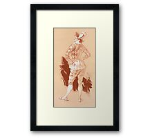 Reproduction Vintage French illustration  Framed Print