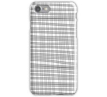 Black cell unique abstract pattern of lines iPhone Case/Skin