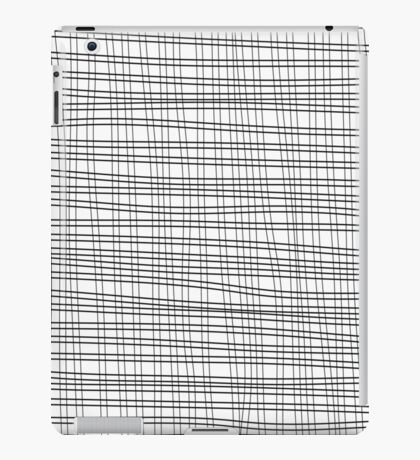 Black cell unique abstract pattern of lines iPad Case/Skin