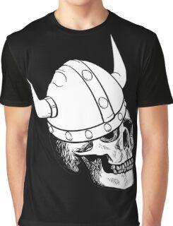 Viking Skull Graphic T-Shirt