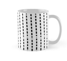 Black cell unique abstract pattern of lines Mug