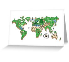 Mario World Map Greeting Card