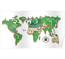 Mario World Map Poster