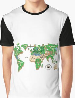 Mario World Map Graphic T-Shirt