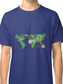 Mario World Map Classic T-Shirt