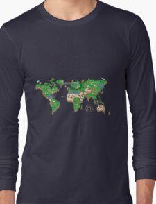 Mario World Map Long Sleeve T-Shirt