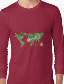 Mario World Map Long Sleeve T-Shirt