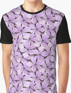 Flowers, Petals, Blossoms - Purple Graphic T-Shirt