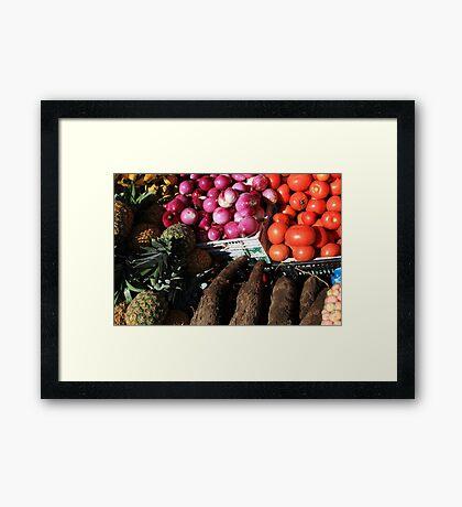 Vegetables and Fruit in Otavalo Framed Print