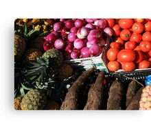 Vegetables and Fruit in Otavalo Canvas Print