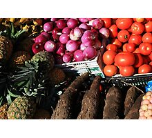 Vegetables and Fruit in Otavalo Photographic Print
