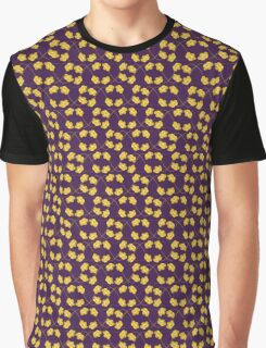 Flowers, Petals, Blossoms - Purple Yellow Graphic T-Shirt