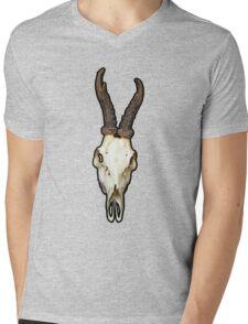 Deer Skull Mens V-Neck T-Shirt