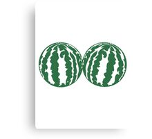 2 melons watermelon bosom breasts balls boobs funny Canvas Print