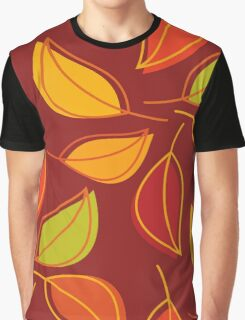 Autumn Leaves, Fall Foliage - Orange Yellow Red Graphic T-Shirt