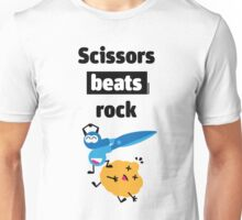 Scissors Beats Rock Unisex T-Shirt