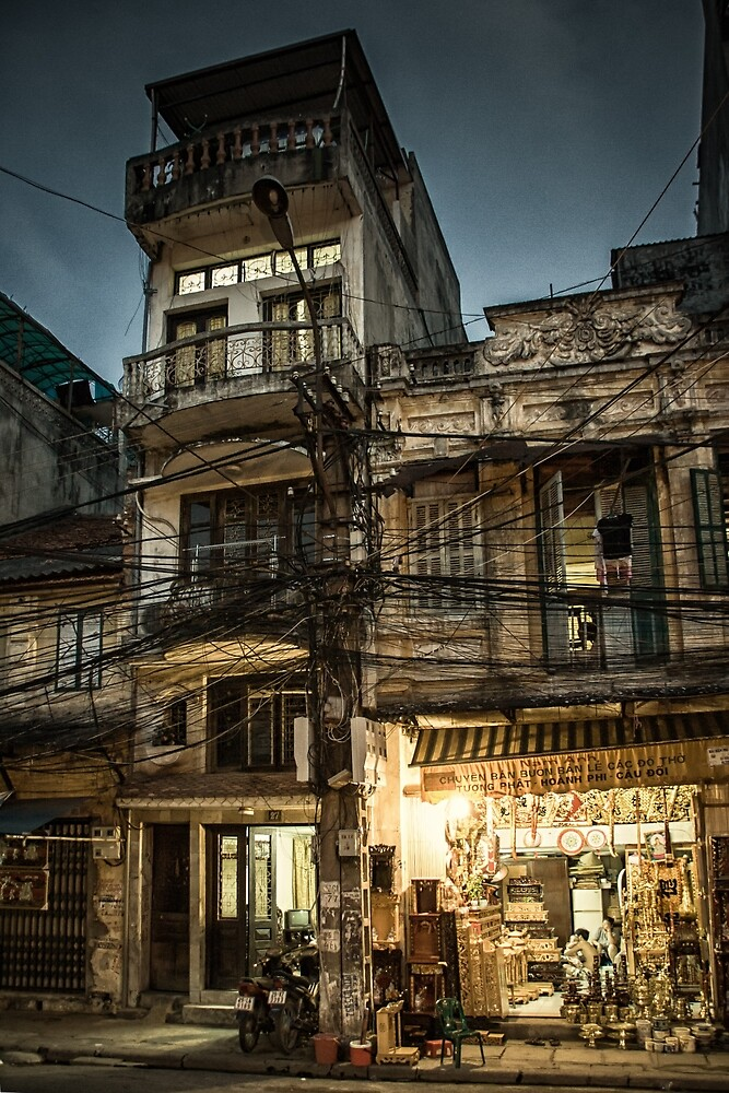 Street in Hanoi #0101 by Michiel de Lange