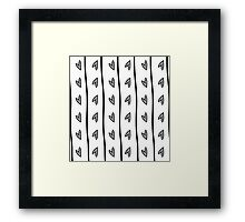 pattern with black heart in Doodle style Framed Print