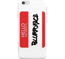 Hello, My Name Is Blurryface iPhone Case/Skin
