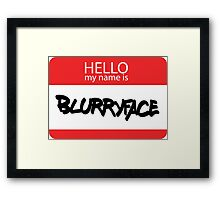 Hello, My Name Is Blurryface Framed Print