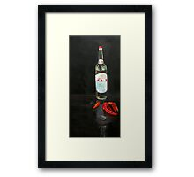 Rice Vinegar and chilies Framed Print