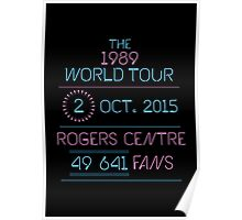 2nd October - Rogers Centre Poster