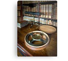 Dunham Massey -Library-Compass Metal Print