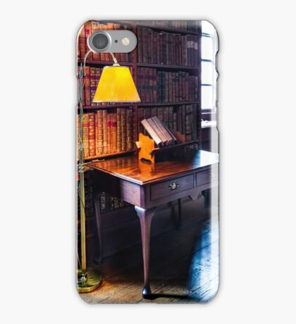 Dunham Massey -Library- table and lamp iPhone Case/Skin