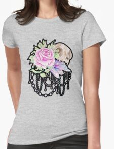Cat and Crystal Womens Fitted T-Shirt