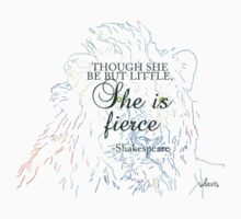 sketch lion head 3J w Shakespeare quote Kids Tee