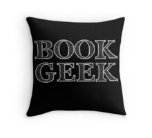 book geek Throw Pillow